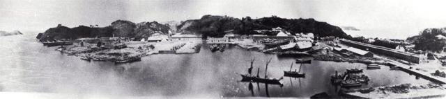 明治時代初期の横須賀造船所(提供:横須賀市役所)