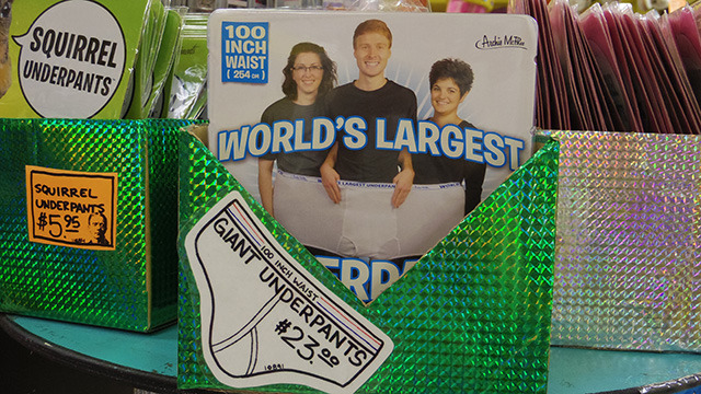 Waist 100 inches: giant underpants