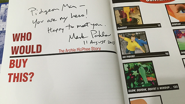 He autographed the book for
