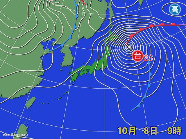 台風23号が暴れた一週間。台風が接近するのは今年最後であってほしいが…。来週あたりの予報データにイヤな影が(ボソっ)。