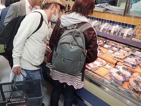 さすが、刺身が旨そう。北海道産の刺身。