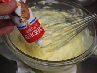 原材料にあった加糖練乳を入れてみた。