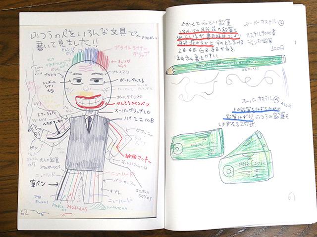 いろんなペンや鉛筆で描かれた、ふつうの人。何者だ。