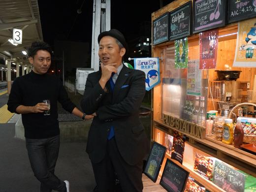 地元香川の口コミサイト「さんラボ!」運営・牟禮さんと、なぜか栃木から来た「栃ナビ!」運営・吉田さんが飲んでいた。