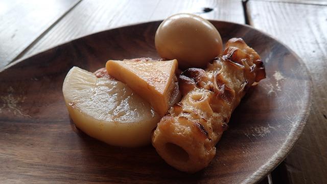 バべん(バーベキュー味のおでん。アクセントはべの上に)