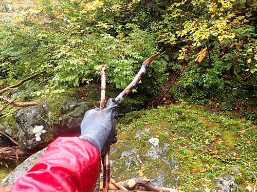 崖を登ろうと掴んだ木の枝がどこにもつながっていないというトラップに何回も引っかかる。風雲たけし城の竜神池のような見極め力が求められるのだ。