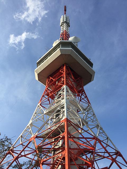 来ました、「宇都宮タワー」!東京タワーのミニチュアみたいでかわいいぞ。