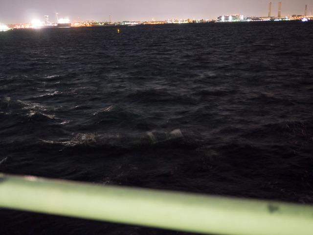 おもに見えている景色はこの夜の海の深さです