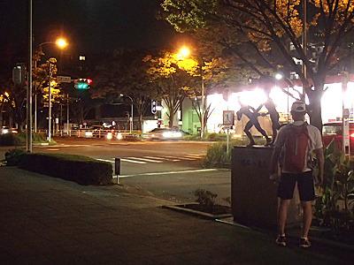箱根駅伝の鶴見中継所。ここも今まで何度も通過しています。夜間走行は普段と違う空間を走っているようでなんだか楽しい。