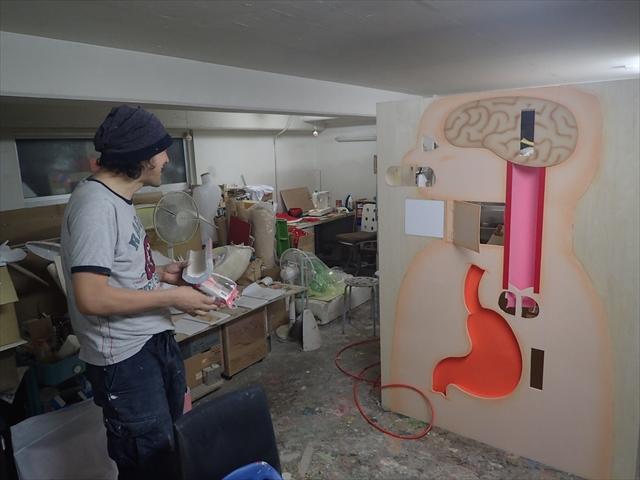 制作途中の模型がアトリエ内にあった