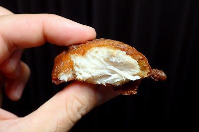 繊維質ではあるが、想像していたよりはずっと柔らかく仕上がった。塩鱈を揚げたらこういう食感になるかも?