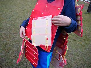 城攻めイベントのサイトに載ってた型紙を元に、お父さんが作ったらしい
