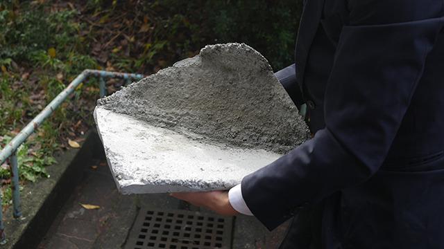 お手製のコンクリートも出来上がった。これでようやくど根性が完成する!