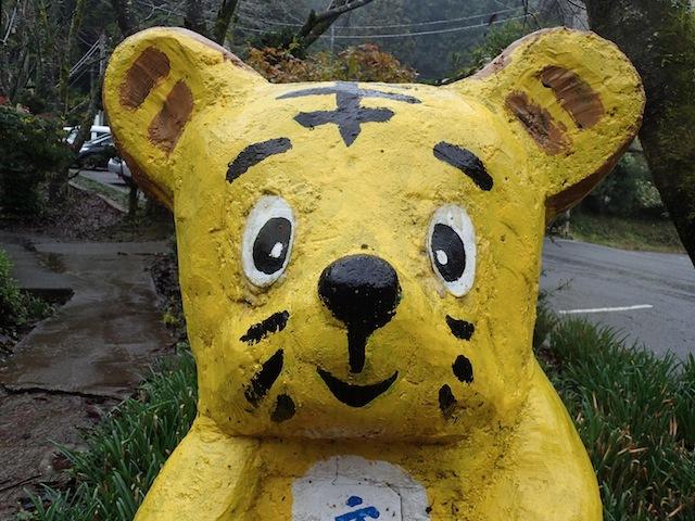 「またのご来場を」子供達にもかなり人気だったトラ。かわいい。
