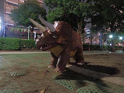 西葛西の公園にいた神話の怪物