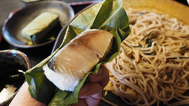 蕎麦もうまい。柿の葉寿司もうまい。