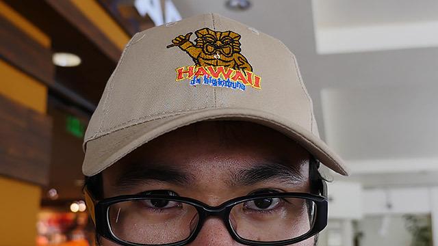 HAWAIIと書かれた帽子