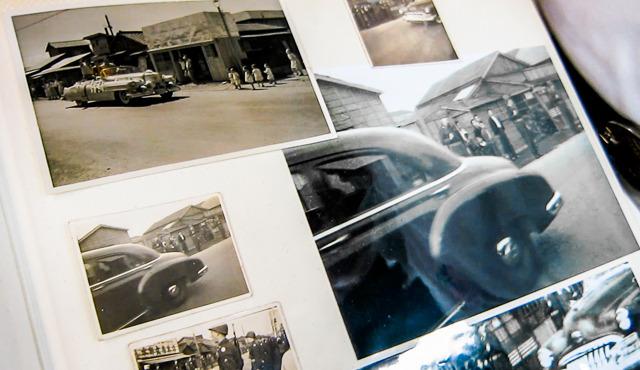 「左上の写真は、力道山ね。凱旋パレード」マッカーサーと力道山が並列扱い。すてき。