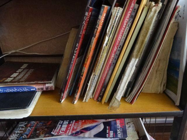 旅行人という、個人旅行者に人気の雑誌が何冊かおいてあった。懐かしい。