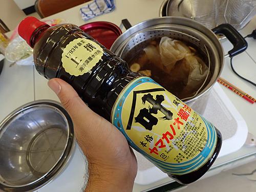 焼き干しが多すぎて少し魚臭さが出てしまったのだが、そこに佐渡の醤油を多めに入れたら一気に味がまとまった。