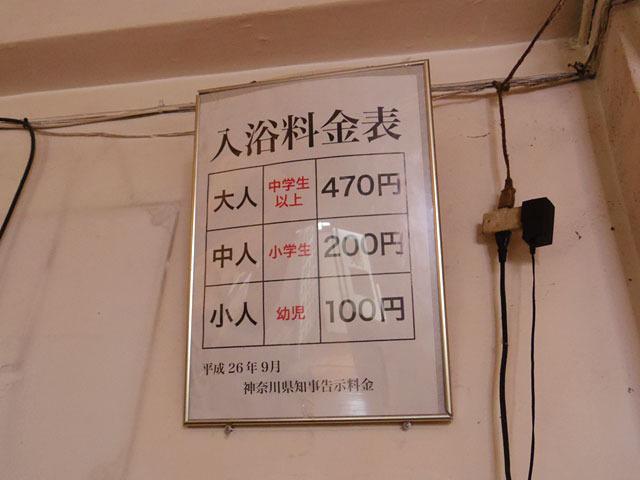 ちなみに入浴料は大人470円だ(2015年12月現在)