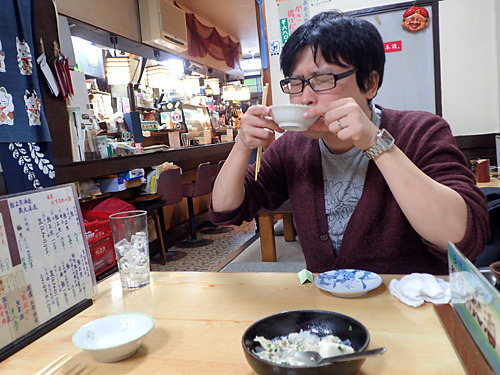 「京都のお澄ましみたいな肉豆腐が、うめぇ~」