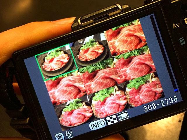 あまりの美しさに何枚も何枚も肉の接写写真を撮っていた。待ち受けにしよう。