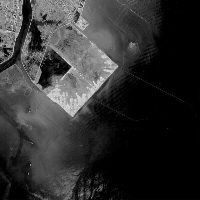 さらにさかのぼって1965年。第1期の埋立の最中。こうやってみるとほんと浦安市ってほとんど埋立地だなー。 (国土地理院「地図・空中写真閲覧サービス</a>」より・整理番号・KT657Y/コース番号・C4B/写真番号・13/撮影年月日・1965/11/04(昭40))