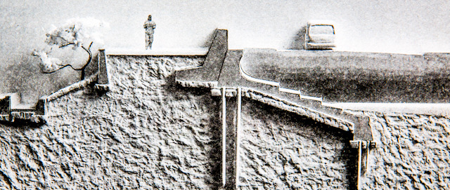 堤防には地下に巨大な構造が隠れている。地上部分は「氷山の一角」なのだ。(宮本佳明さんの『環境ノイズを読み、風景をつくる。』 より)