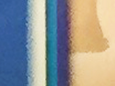 「餃子」の「子」の左側。青→水色→白→黒→水色→青→黒→背景の8種。出ました、8種盛りが出ました。