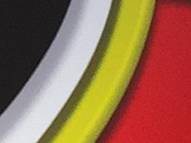 こうである。黒→灰→白→濃い黄①→黄→濃い黄②→濃い赤→赤!