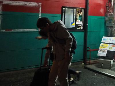 さいご出口でこけて足をくじいた瞬間。その後2週間腫れた。石川さんをいじめた罰だろうか。