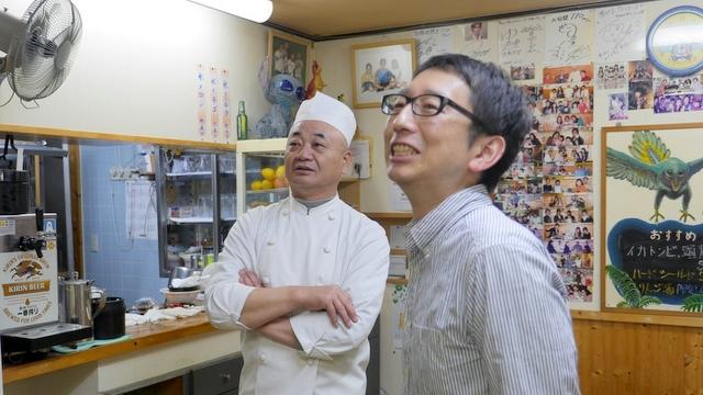 店主の伊藤さん(62歳)とぼく