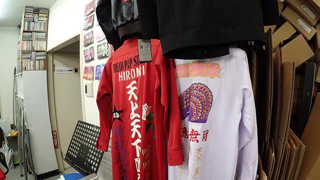 バリバリに刺繍された特攻服など。