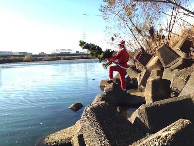 クリスマス釣りー。