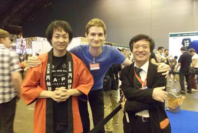 海外で開催された日本紹介イベントでのクリスさん。衝撃的な出会いは人生を変えることがある。
