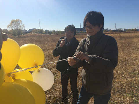 作家の道尾秀介さんが出てくれてます。風船にテグスがからまりまくる歴代でナンバーワン級の大変な撮影となった
