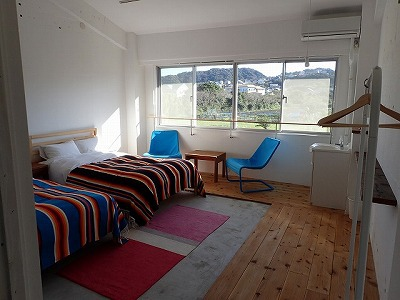なんで僕はサメ釣りに来てこんないい部屋に泊まってるんだろう…。