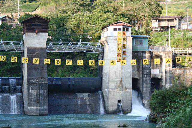 ダムとしてはもうほんの僅かで、古い発電用の取水堰で稀に見られる