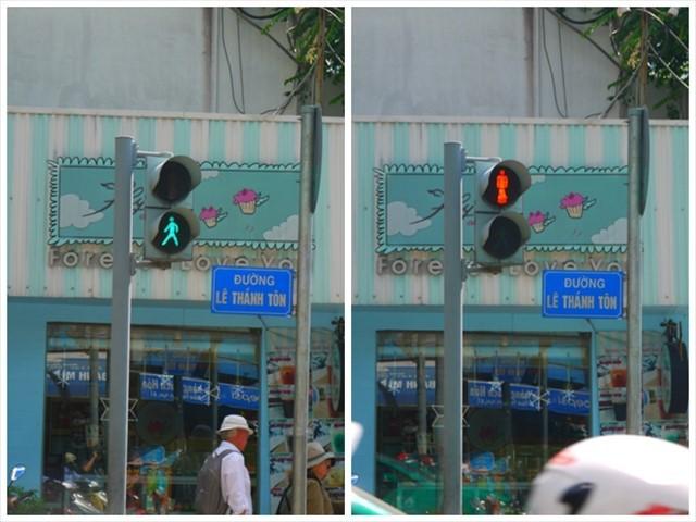 ベトナムの歩行者信号は日本と大差なし、でも数が本当に少ない。