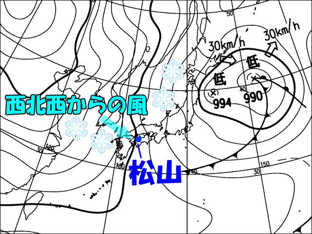 2012年2月2日朝。気象庁天気図