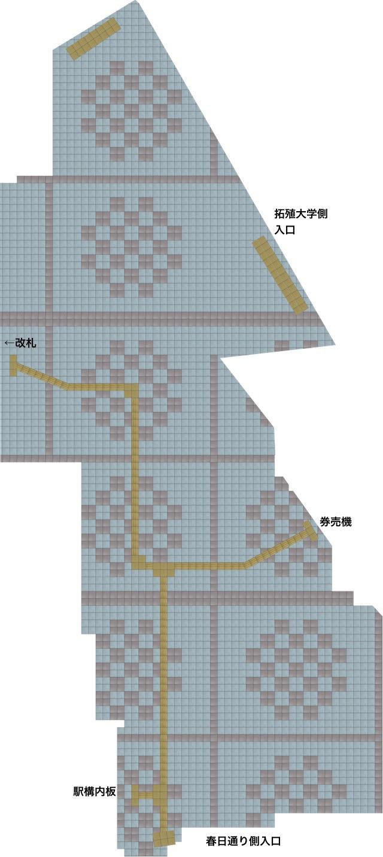 茗荷谷駅の床マップ