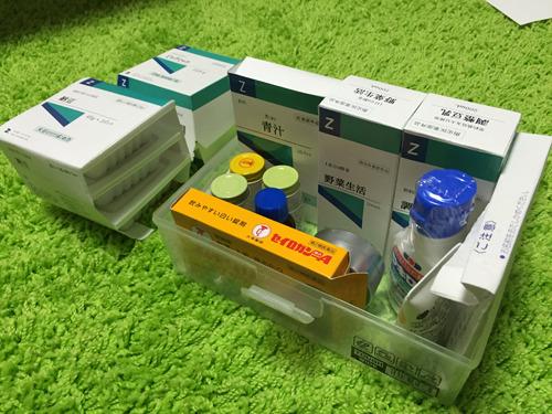 充実の薬箱