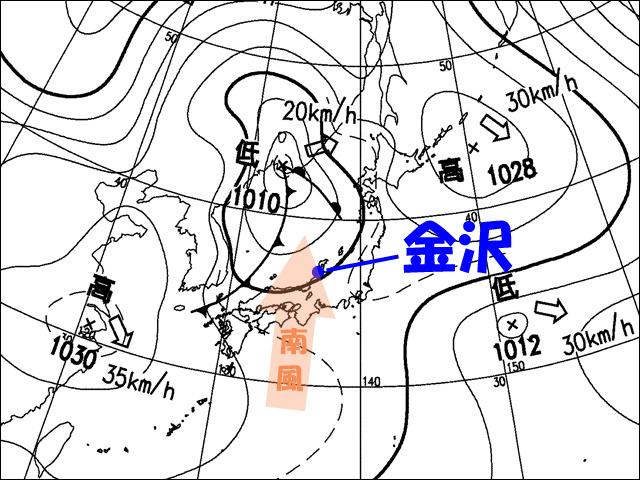 2007年1月30日夜。気象庁天気図