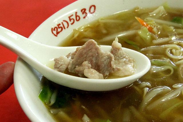 スープの中に見つけると嬉しい豚肉君