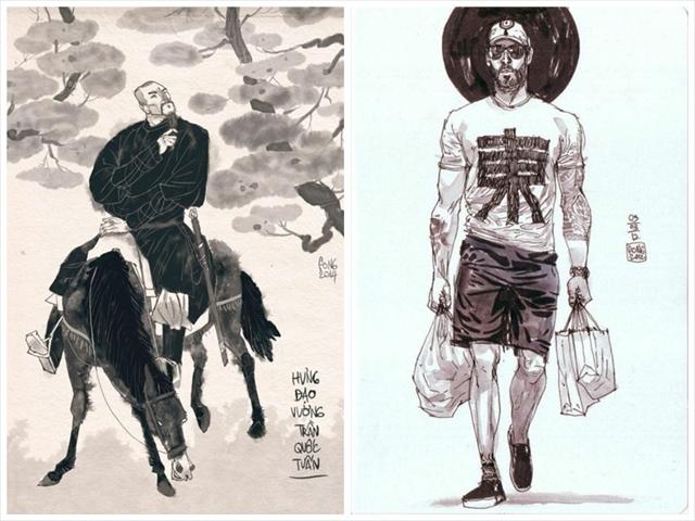 筆を使用するところやリアリティあふれる描写は、「SLAM DUNK」や「バガボンド」の井上雄彦氏のようでもある。彼とドゥンさんの作品のひとつ「ORANGE」はバスケット漫画なので、もしかしたら意識しているのかもしれない。