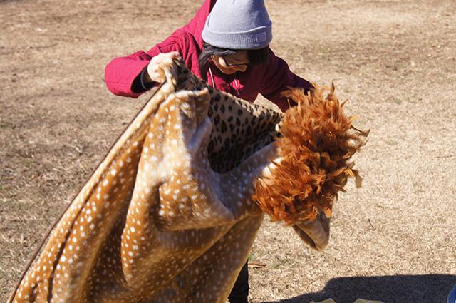 これが『野生動物に襲われている気分になれる寝袋』だ!