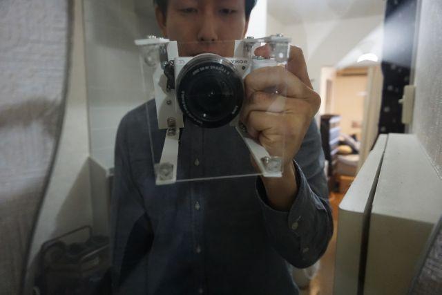 こんな感じでカメラと組み合わせる。