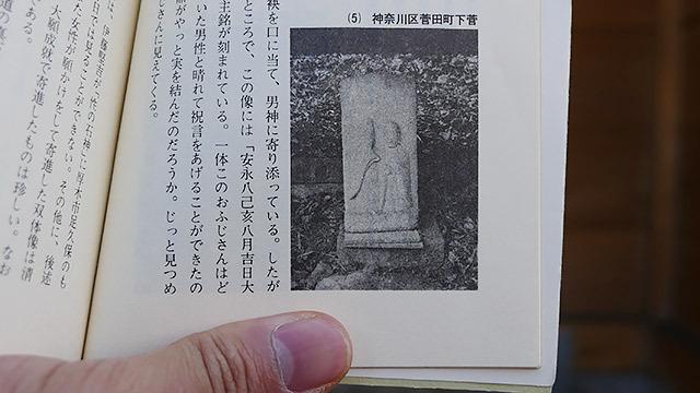 本にある道祖神