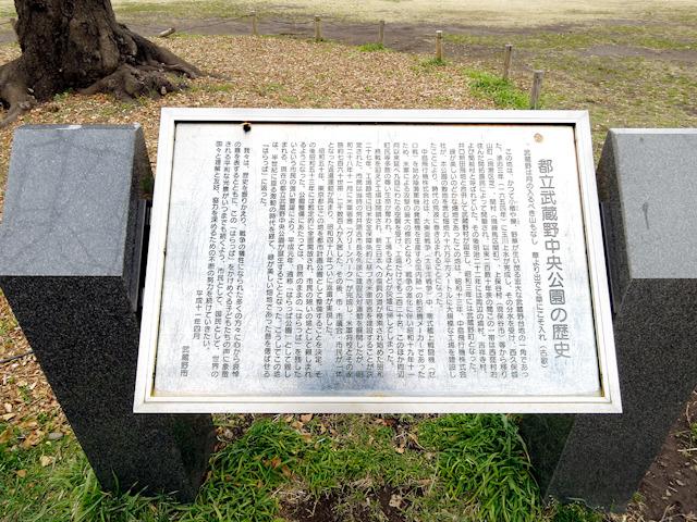公園にある碑。詳しい内容を読みたいかたは画像クリックで大きなものをご覧頂けます。